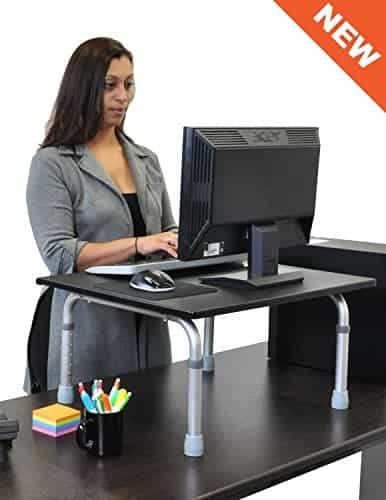 Adjustable Height Standing Desk – Convert your desk to a standing desk