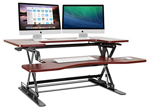 Halter ED-258 Preassembled Height Adjustable Desk Sit Stand Desk Elevating Desktop
