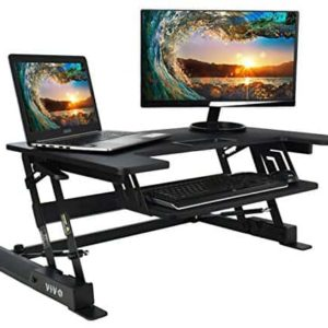VIVO Height Adjustable Standing Desk Monitor Riser Gas Spring