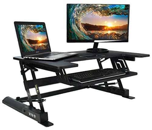 VIVO Height Adjustable Standing Desk Monitor Riser Gas Spring
