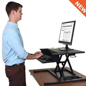AirRise Pro – Standing Desk Converter Adjustable Height Pneumatic Stand Up Desk