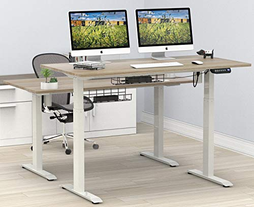 Best Price SHW 55-Inch Large Electric Height Adjustable Computer Desk, 55 x 28 Inches