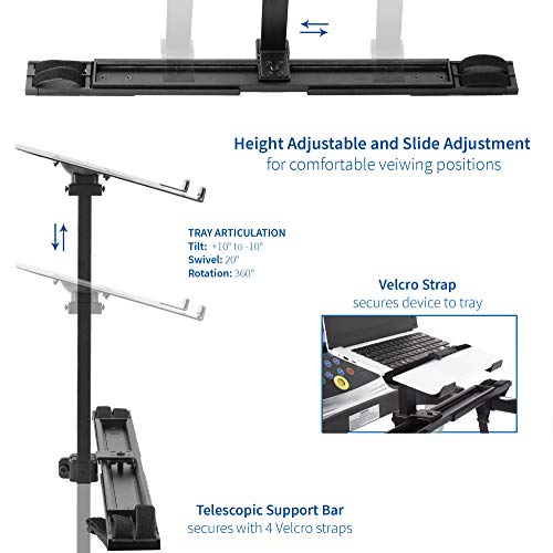 Specification VIVO Universal Laptop Treadmill Desk, Adjustable Ergonomic Notebook Mount Stand for Treadmills Stand-TDML1