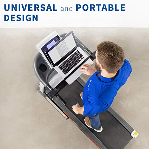 Stunning VIVO Universal Laptop Treadmill Desk, Adjustable Ergonomic Notebook Mount Stand for Treadmills Stand-TDML1