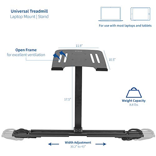 Breathtaking VIVO Universal Laptop Treadmill Desk, Adjustable Ergonomic Notebook Mount Stand for Treadmills Stand-TDML1